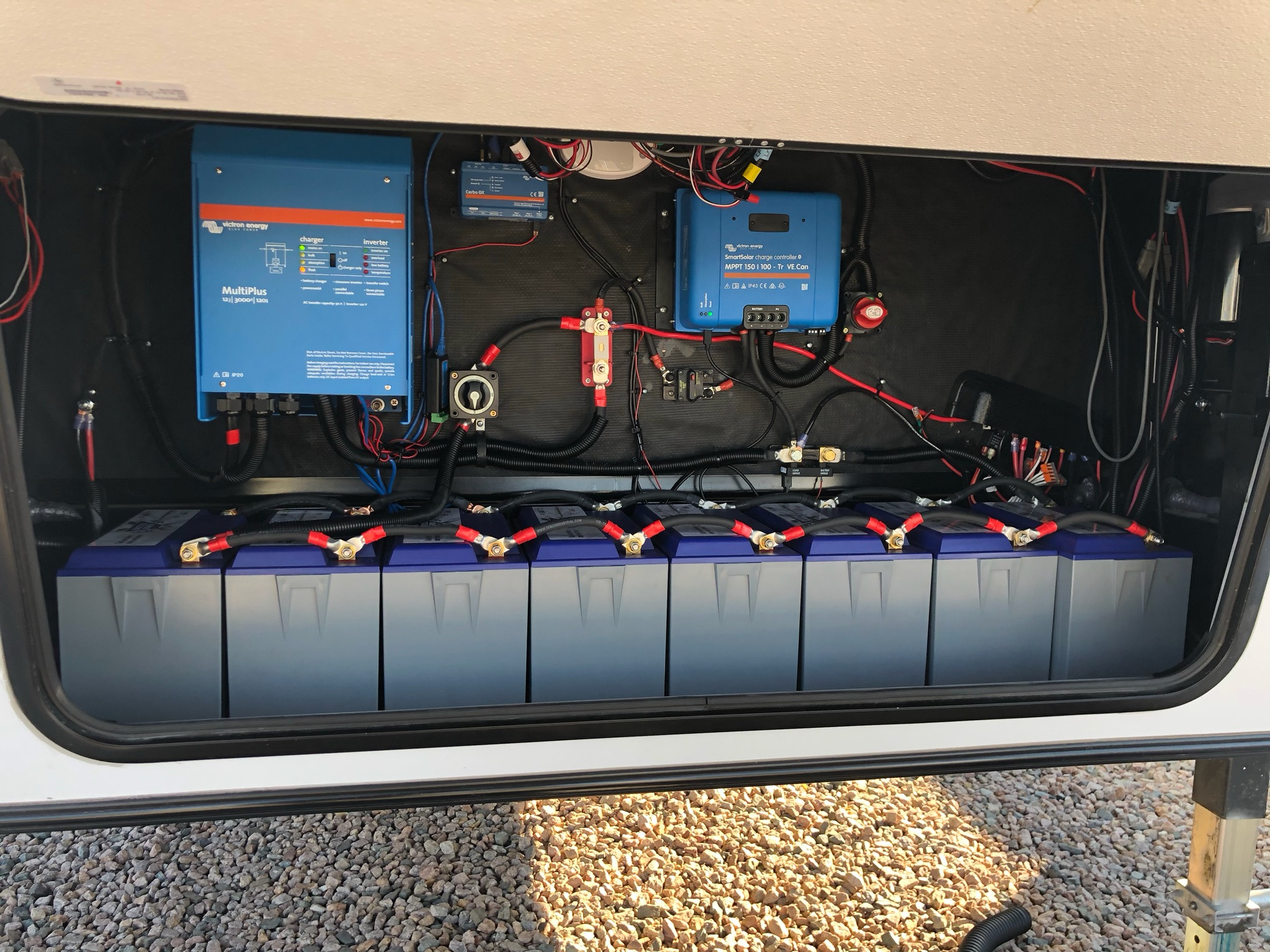 Battle Born installation with Victron controller and Inverter
